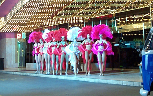 showgirl costumes allstate commercial
